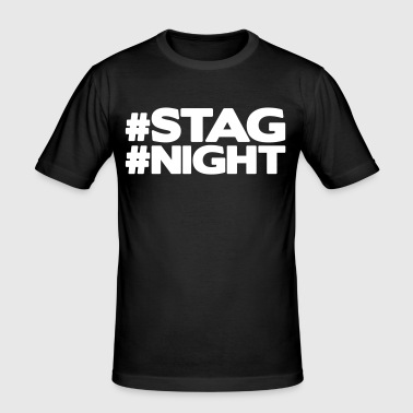 #STAG #NIGHT - Men's Slim Fit T-Shirt