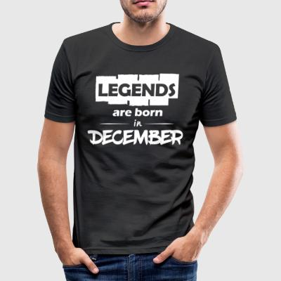 Legends are born in December - Men's Slim Fit T-Shirt