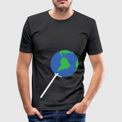 Paleplaneta - Herre Slim Fit T-Shirt