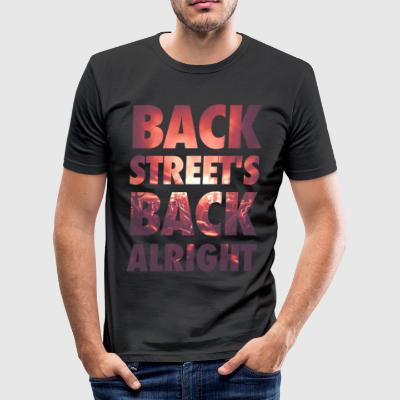 Backstreet rygg alright! - Slim Fit T-shirt herr