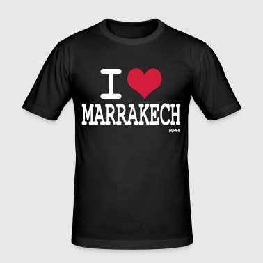 i love marrakech by wam - T-shirt près du corps Homme