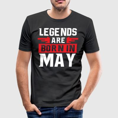 Cool Legends är födda i maj T-shirt - Slim Fit T-shirt herr