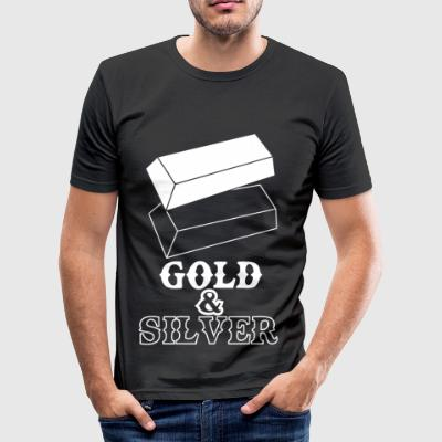 goldsilver wite - Men's Slim Fit T-Shirt