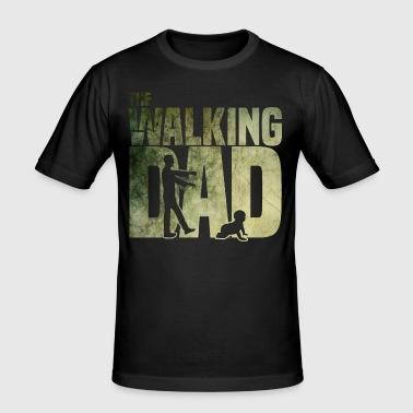 The walking Dad - Zombie - Papa -Humor-Baby-Vater - Männer Slim Fit T-Shirt