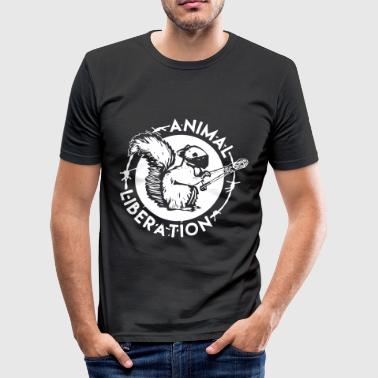 Animal Liberation Eekhoorn - slim fit T-shirt