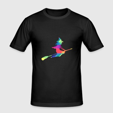 Colorful witch - Men's Slim Fit T-Shirt