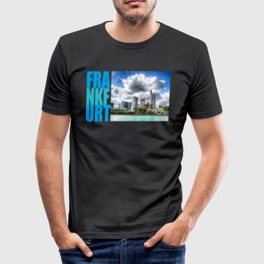 Frankfurt, Skyline - slim fit T-shirt