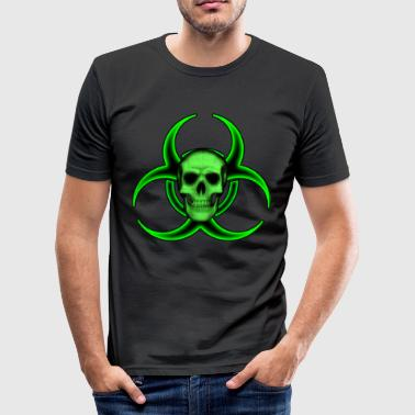 Biohazard Skull - Herre Slim Fit T-Shirt