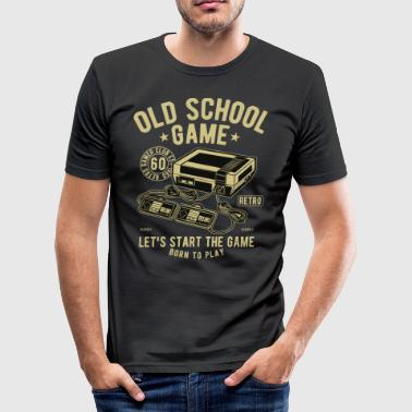 Old School Game - Slim Fit T-shirt herr