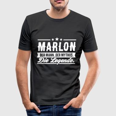 Mann Mythos Legende Marlon - Männer Slim Fit T-Shirt