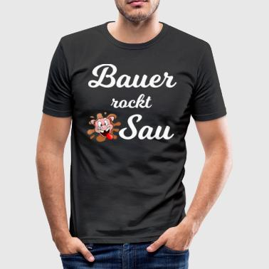 Bauer rocks sow 1 - Men's Slim Fit T-Shirt