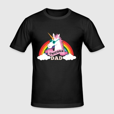 Unicorn Dad - cool sunglasses father - Men's Slim Fit T-Shirt