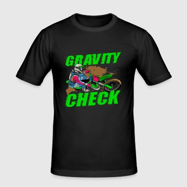 Gravity Check - Dirt Bike Motocross - Slim Fit T-skjorte for menn