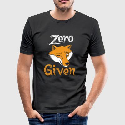 Zero Fox Gitt - Er driter ordspill - Slim Fit T-skjorte for menn