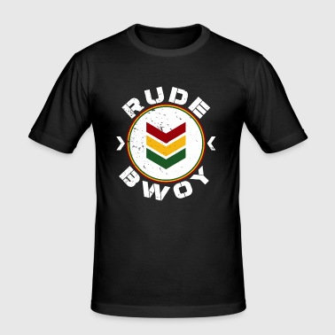 Rude Bwoy white distressed - Männer Slim Fit T-Shirt