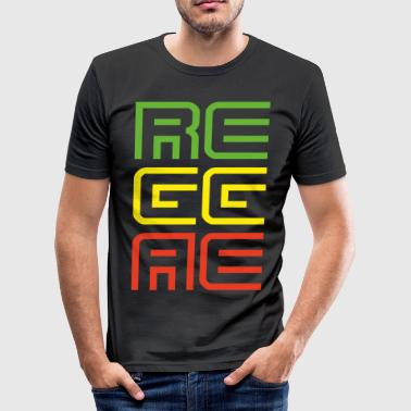 041 - Reggae - Männer Slim Fit T-Shirt
