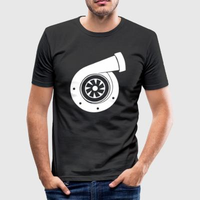 Turbolader boost T-shirt - Herre Slim Fit T-Shirt