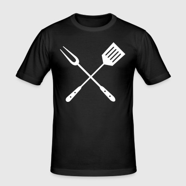 Grill utensils - Men's Slim Fit T-Shirt