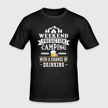 Weekend Prediction with a chance of drinking - T-shirt près du corps Homme