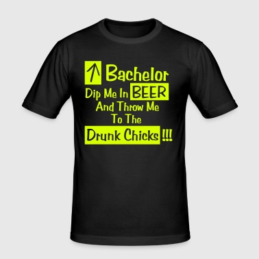Bachelor - Dip me in beer - slim fit T-shirt