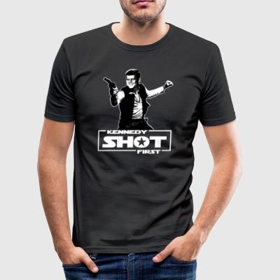 Kennedy shot first - Männer Slim Fit T-Shirt