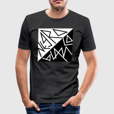 Negro Y blanco - slim fit T-shirt