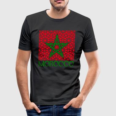 Morocco Marokko المغرب MOSAIK - Männer Slim Fit T-Shirt