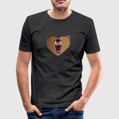 Grizzly Love - Men's Slim Fit T-Shirt