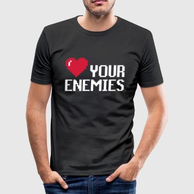 Love Enemies - Men's Slim Fit T-Shirt