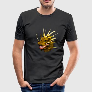 dragon hoved - Herre Slim Fit T-Shirt