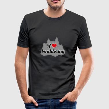 I love bouldering - Men's Slim Fit T-Shirt