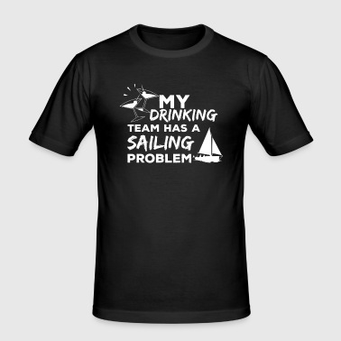 Funny sailing design - sailing gift - Men's Slim Fit T-Shirt