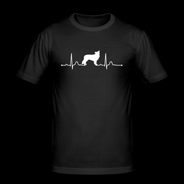 BORDER COLLIE Heartbeat heartbeat - Men's Slim Fit T-Shirt