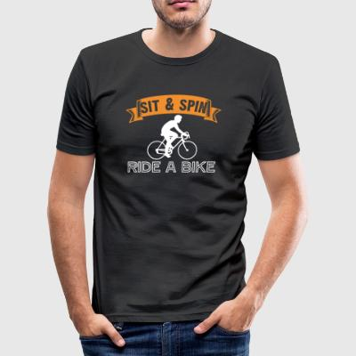 Sit and Spin Ride a Bike - Tee shirt près du corps Homme
