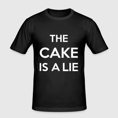 The Cake Is A Lie - Men's Slim Fit T-Shirt