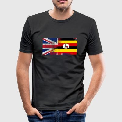 British Ugandan Half Uganda Half UK Flag - Slim Fit T-shirt herr