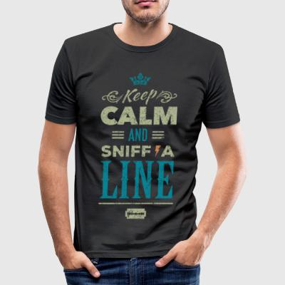 Keep calm and sniff a line - vintage drugs - Men's Slim Fit T-Shirt