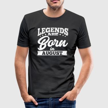 Legends föds i augusti - Slim Fit T-shirt herr