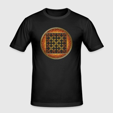 INFINITY LOOP - crop circle - symbol interconnectedness of all things - Men's Slim Fit T-Shirt
