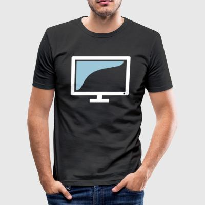 Skjerm TV Monitor gave - Slim Fit T-skjorte for menn