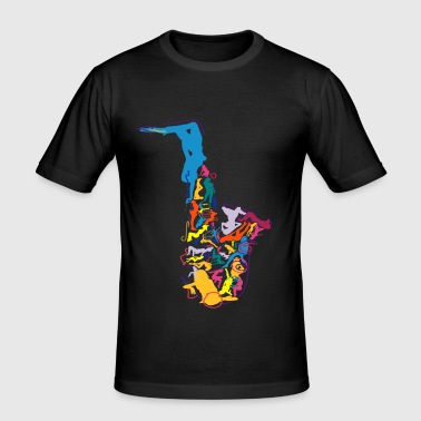 Sax Addict saxophone - Men's Slim Fit T-Shirt