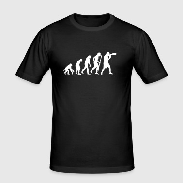 Evolution of boxing - Men's Slim Fit T-Shirt
