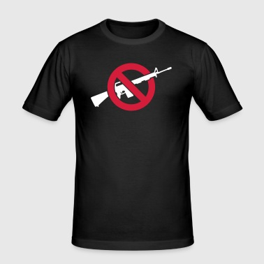 Anti guns - violence - no to violence - Men's Slim Fit T-Shirt
