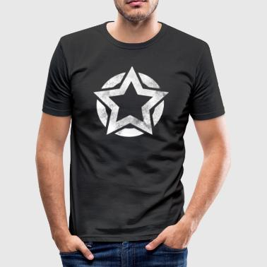 Star in circle grunge gift - Men's Slim Fit T-Shirt