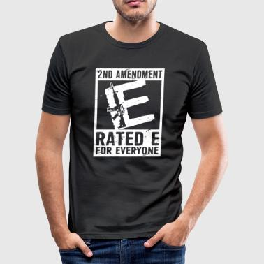 2nd Amendment Ratede For Everyone Shirt - Men's Slim Fit T-Shirt