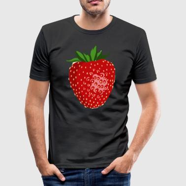 Simple Strawberry gaveidé - Herre Slim Fit T-Shirt