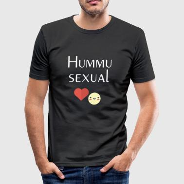 Hummusexual - Herre Slim Fit T-Shirt