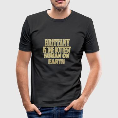 Brittany - Men's Slim Fit T-Shirt