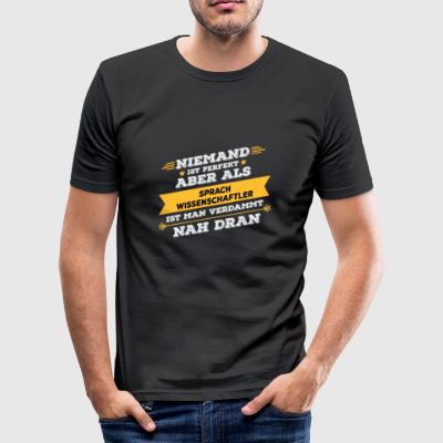 cadeau d'occupation Linguiste - Tee shirt près du corps Homme