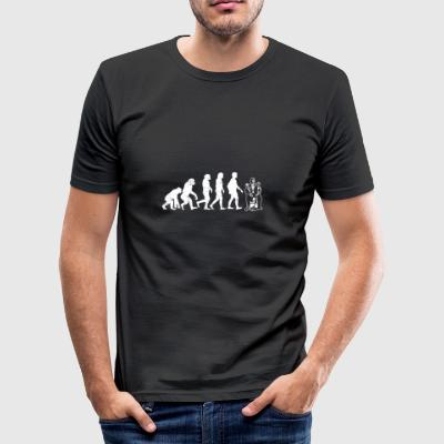 Puppeteer evolutie gift pop animateur - slim fit T-shirt
